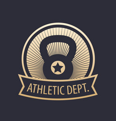athletic department gym emblem vector image