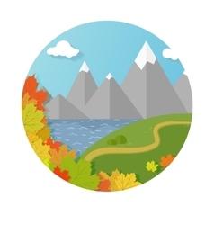 autumn mountains vector image