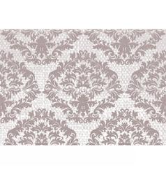 Baroque floral damask pattern background vector
