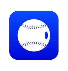 baseball ball icon digital blue vector image