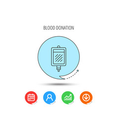 blood donation icon medicine drop counter sign vector image