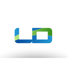 Blue green ld l d alphabet letter logo vector