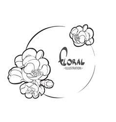 bright floral template vector image
