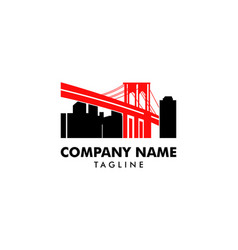 brooklyn bridge logo vector image