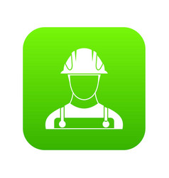 builder icon digital green vector image