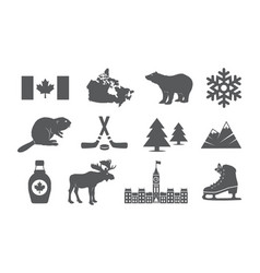 Canada icons set vector