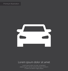 Car premium icon vector