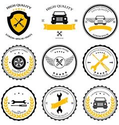 Car service Auto parts tools Icons set vector