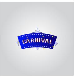 Carnival template design vector