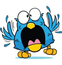 Cartoon Frantic Blue Bird vector image