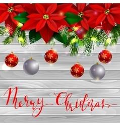 Christmas decoration evergreen trees vector