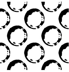 Coffee or tea stains seamless pattern splashes of vector