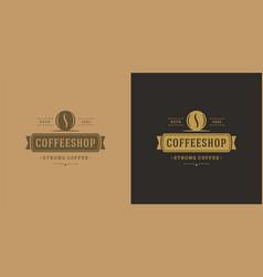 Coffee shop logo template vector
