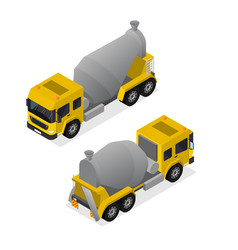 concrete mixer isometric view vector image