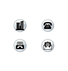 Contacts icons telephone icon email icon address i vector