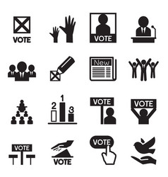 democracy icon set vector image