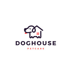 dog house home logo icon vector image