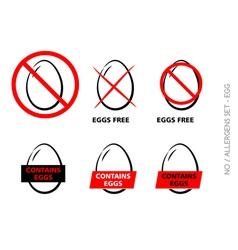 Egg free symbols on white background vector