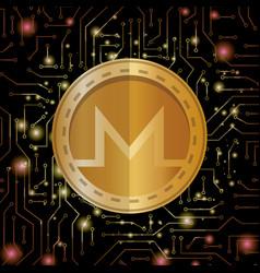 Electronic commerce with monero vector
