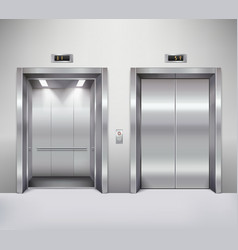 Elevator door vector image