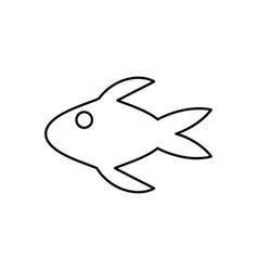 fish swimming icon vector image