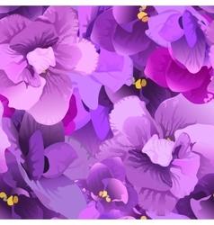 Flower violet seamless pattern vector