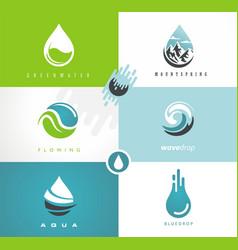 Fresh spring water logo vector
