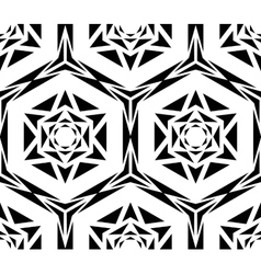Geometric Black Rose Pattern vector image