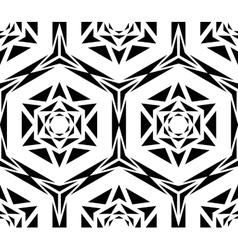 Geometric black rose pattern vector