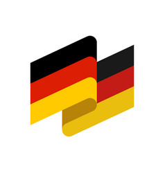 Germany flag isolated german ribbon banner state vector