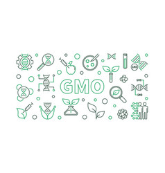 gmo simple horizontal in vector image