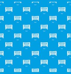 Goal soccer pattern seamless blue vector