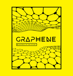 graphene a molecular network hexagons vector image
