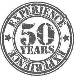 Grunge 50 years experience rubber stamp vector