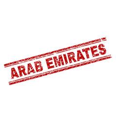 Grunge textured arab emirates stamp seal vector