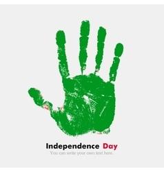Handprint with the Flag of Libyan Arab Jamahiriya vector