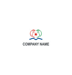 hands help star company logo vector image