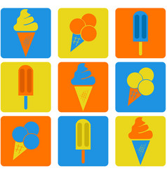 ice cream icons vector image