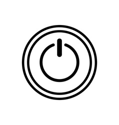 Icon of power button vector