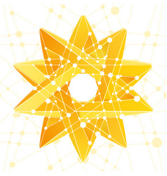Impossible star 3d for your project abstract vector