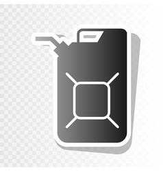 Jerrycan oil sign jerry can oil sign new vector