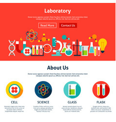 laboratory website design vector image