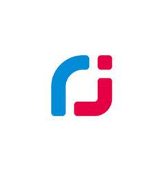 Letter jr cute fun colorful design logo vector