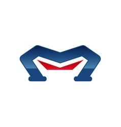 m letter logo m letter logo design vector image