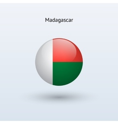 Madagascar round flag vector