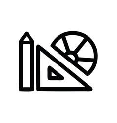 Math equipment icon vector