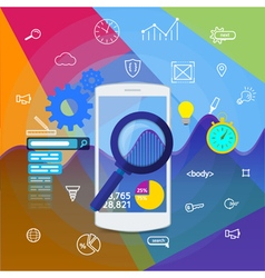 Mobile app search information analytics vector