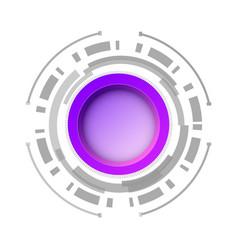 modern futuristic user interface design concept vector image