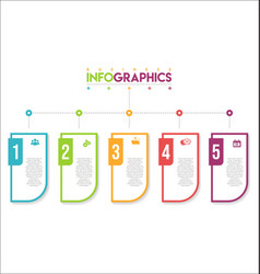 modern infographic colorful design template 2 vector image