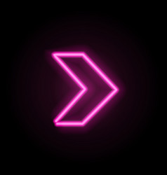 neon glowing arrow pointer vector image